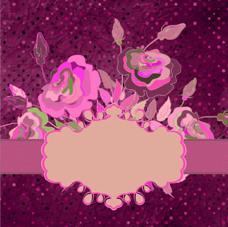 Vintage template with floral background  EPS 8 Vector