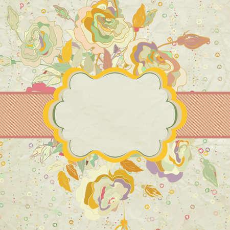 Vintage flower valentine card  EPS 8 Stock Vector - 14980041