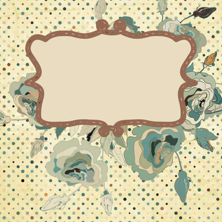 Paper background with flowers   Illustration