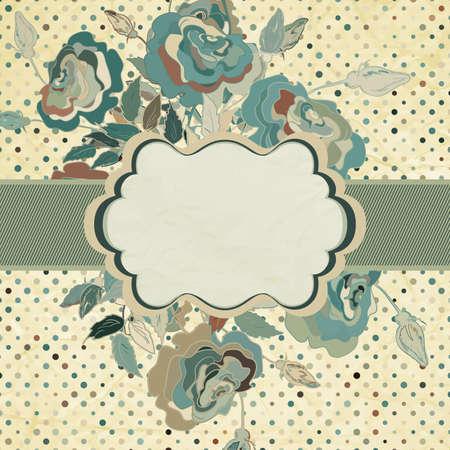 arty: Vintage Flowers template design   Illustration
