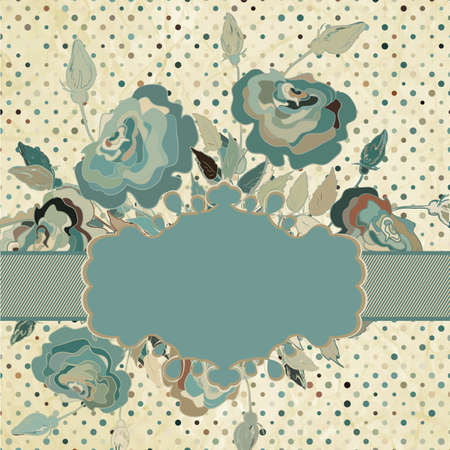 Vintage border set with rose  EPS 8  Vector