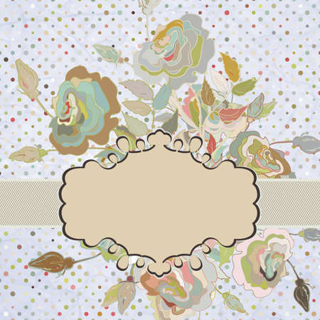 Vintage frame with Flowers Stock Vector - 15134263