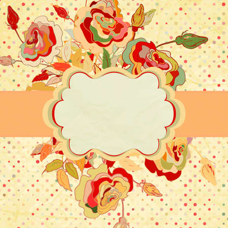 Vintage frame for your design  Vector