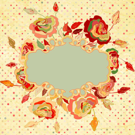 restyled: Vintage background with flowers