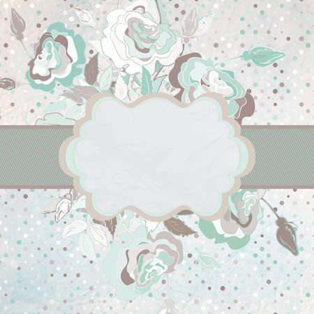 Romantic blue gray background  EPS 8 Vector