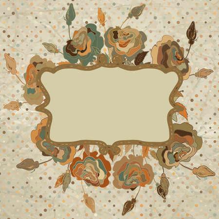 Stylish vintage floral background Stock Vector - 15222153