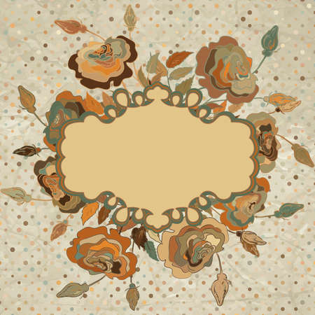 Vintage floral card pattern  Vector