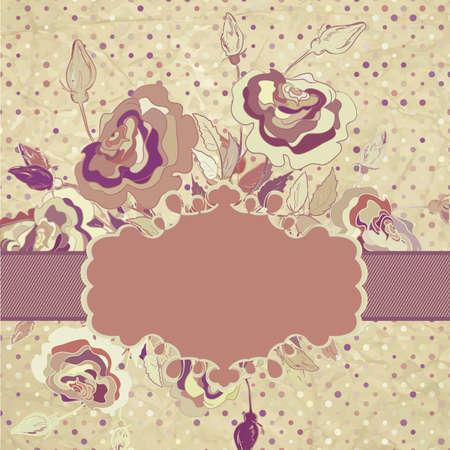 Pretty Vintage Stil Blume Standard-Bild - 15274381