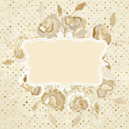 Paper background with flowers   Vector