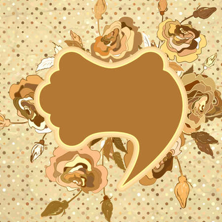 Romantic vintage rose background  EPS 8 Vector