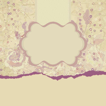 Grunge romantic flower in vintage style   Vector