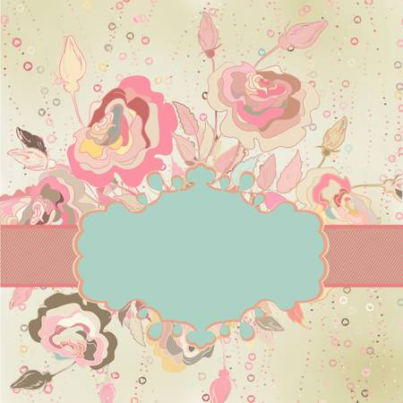 Vintage flower template background   Stock Vector - 15732109