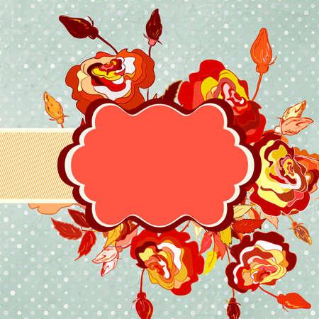 tillable: Illustration flower with polka dot