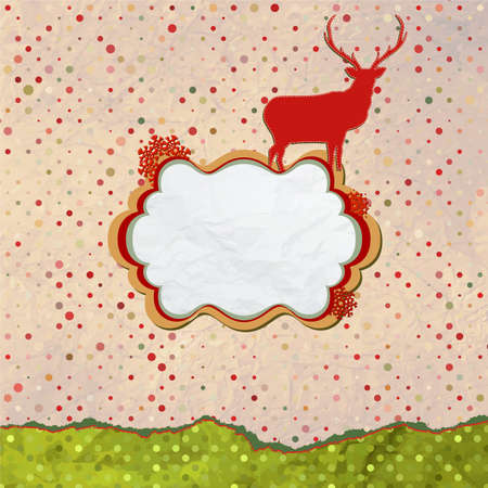 Christmas Invitation card template design  Stock Vector - 15774495