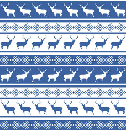 Christmas seamless pattern with deer   Illustration