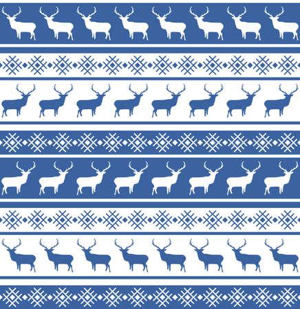 Weihnachten nahtlose Muster mit Rehen Standard-Bild - 15809002