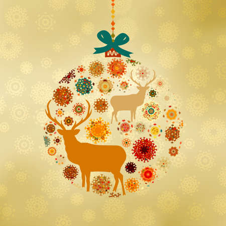 Christmas ornaments made from snowflakes Stock Vector - 15809003