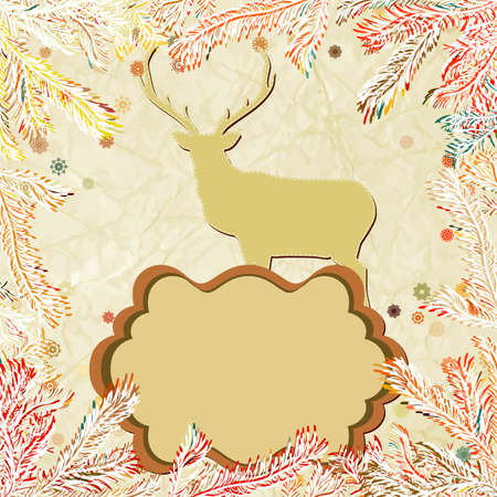 Christmas deer with snowflakes Stock Vector - 15906387