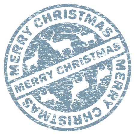 Christmas stamp template Illustration