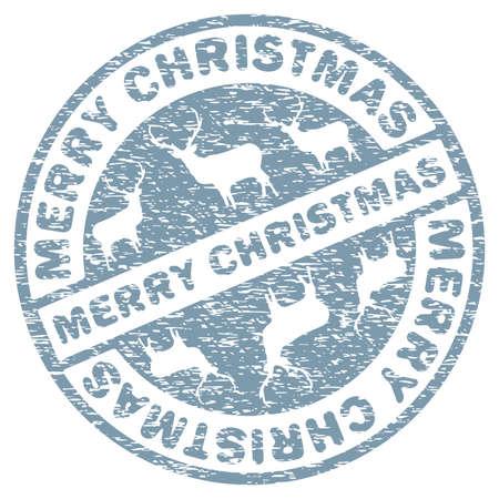 postmark: Weihnachten Stempel Vorlage Illustration