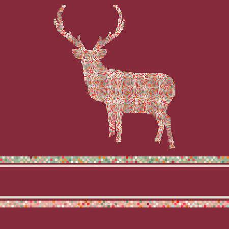 Christmas reindeer silhouette Vector
