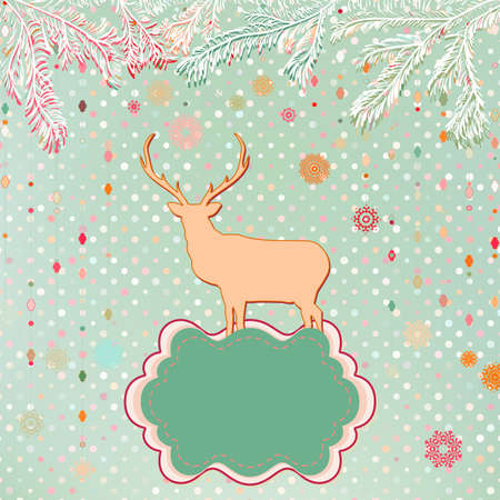 Christmas Invitation card template Vector