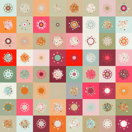 colorful seamless snowflake pattern Stock Vector - 15906388