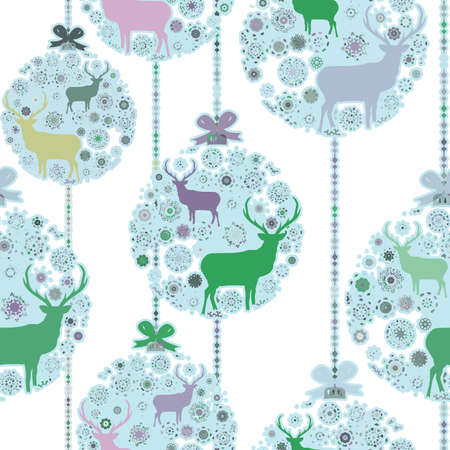 Colorful Christmas seamless pattern   Vector