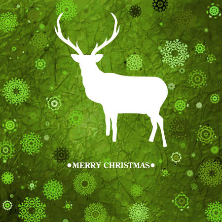 Christmas deer, purple paper   Vector