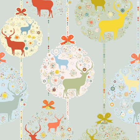 christmas seamless pattern: Colorful Christmas seamless pattern   Illustration