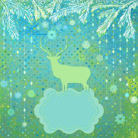 Christmas Invitation card template Stock Vector - 16251635