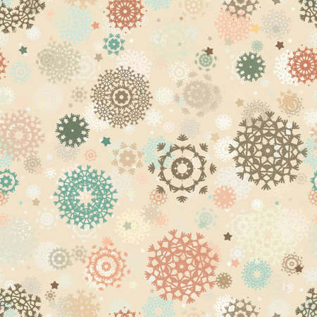 Seamless retro christmas pattern   Illustration