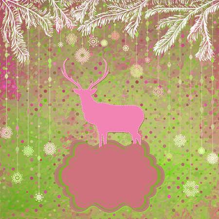 Christmas Invitation card template  Vector