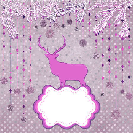 Christmas Invitation card template Stock Vector - 16608321