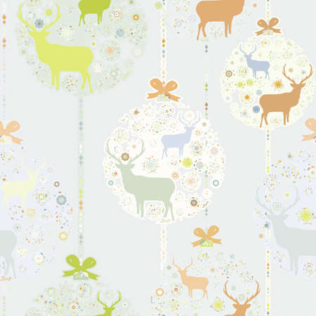 Colorful Christmas seamless pattern