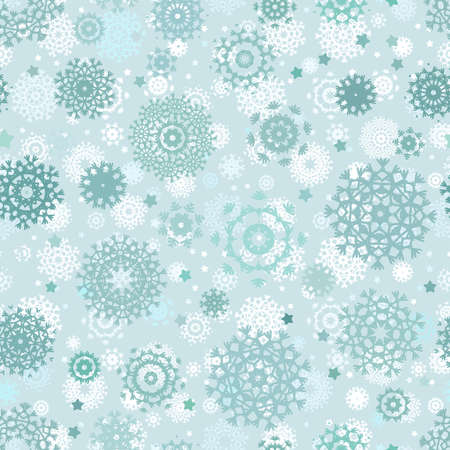 Seamless snowflakes background for winter Stock Vector - 16641363