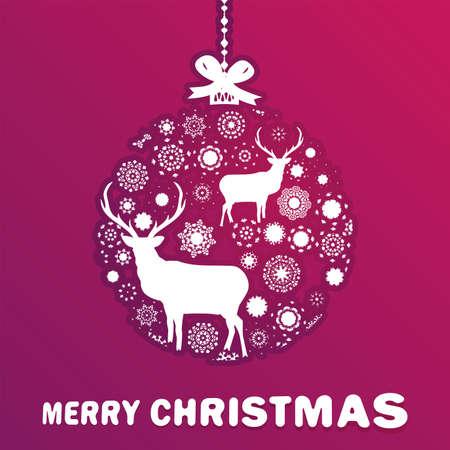 Purple and pink Christmas ball Stock Vector - 16684905