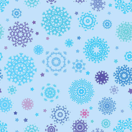 Seamless snowflakes background for winter  Stock Vector - 16809969