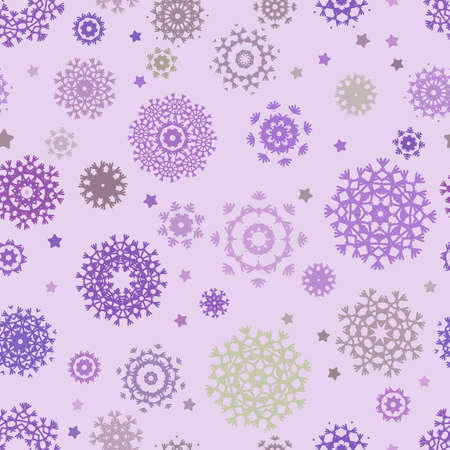 Seamless snowflakes background for winter  Stock Vector - 16809965