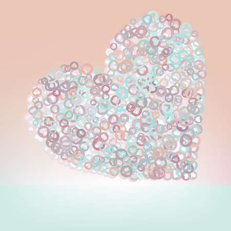 Orabge love hearts.  And also includes Stock Vector - 17552305