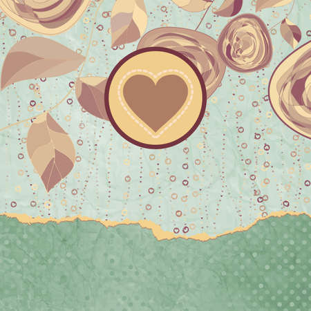 Vintage style background with flowers Vector