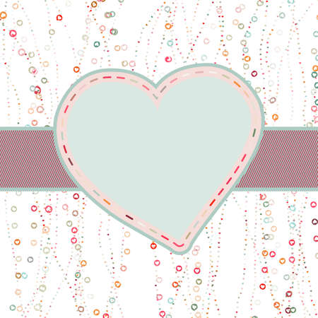 Valentine card with heart Stock Vector - 17552632