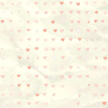 Aquarell Herzen Muster auf Papier Textur EPS 8 Standard-Bild - 17874261
