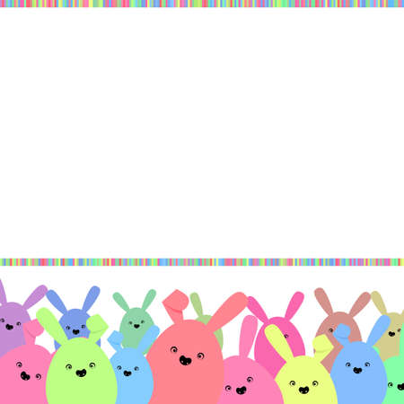 Colorful easter card with copy space Vector