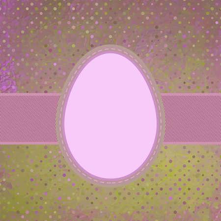 Egg on polka dot background Stock Vector - 18117367