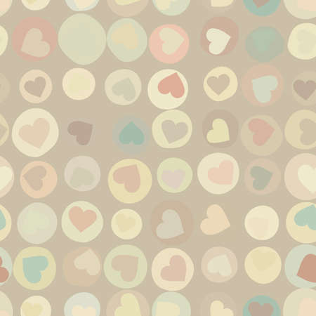 Orange hearts background on beidge   EPS 8 Vector