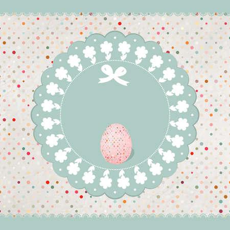 Easter eggs card  EPS 8 Vector