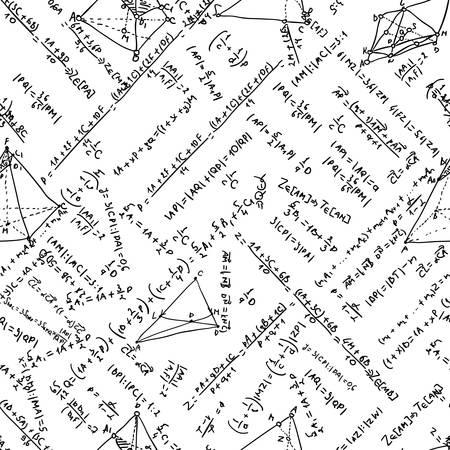 mathematical proof: Maths seamless pattern