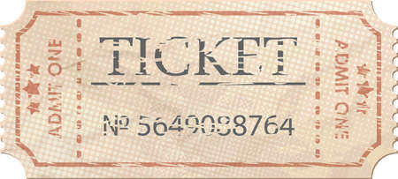 Ticket admit one vintage one  EPS 8