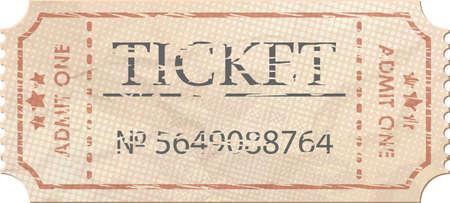 Ticket zugeben, ein vintage einem EPS 8 Standard-Bild - 19091810